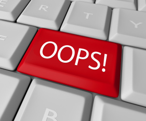Oops Mistake Correction Key on Computer Keyboard