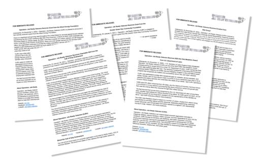 OJRV Press Releases