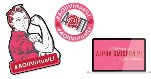 AOII Foundation Leadership Institute Stickers